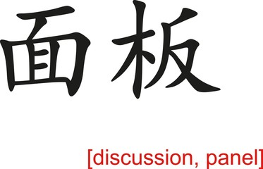 Chinese Sign for discussion, panel