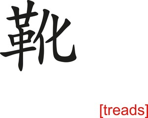 Chinese Sign for treads
