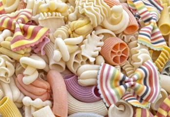 Colorful pasta.