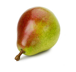 Ripe pear on white background