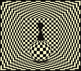Chess pawn background, vector illustration