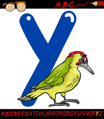 letter y for yaffle cartoon illustration