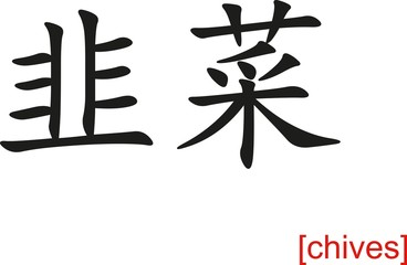 Chinese Sign for chives