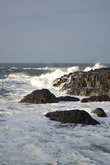 Sea Spray on Black Rocks,-Northern Ireland 3