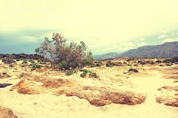 deserted beach, Crete, Greece