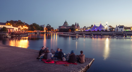 """Big Top"" and Galway Cathedral during Art Festival."