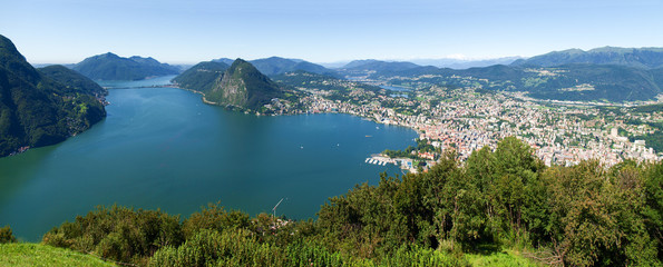 View from Monte Bre in the Gulf of Lugano