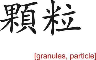 Chinese Sign for granules, particle