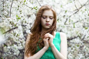 Romantic young woman portrait
