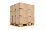 Cardboard boxes on pallet. - 68744600