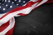 Flag on blackboard - 68745271