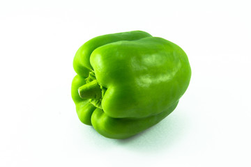 green capsicum isolated