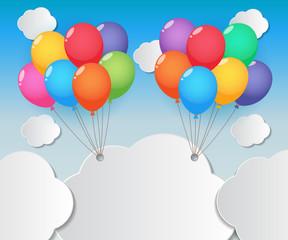 balloon sky background