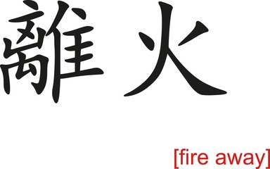 Chinese Sign for fire away