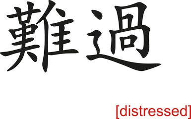 Chinese Sign for distressed