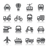 Fototapety Transportation Icons