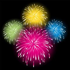 Feuerwerk, Explosion, Vorlage, Set, Design