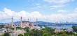 Incredible beautiful view of Hagia Sophia from hotel terrace