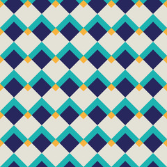 Fashion pattern with squares
