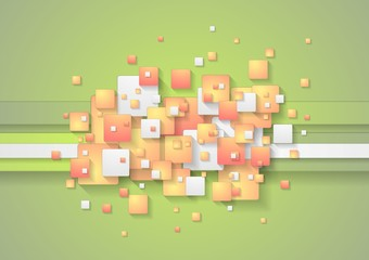 Abstract colorful squares vector background