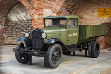 NIZHNY NOVGOROD: Soviet car  during the second world war GAZ-AA