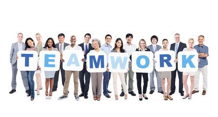 Multi-Ethnic Business People Holding Teamwork
