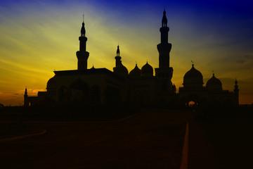 Grand Mosque Sunset