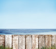 Wooden Fence by the Ocean and the Sky