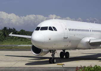 Parked Commercial Airplane