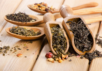 Assortment of dry tea