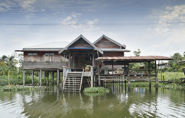 The riverfront house in Bangkok