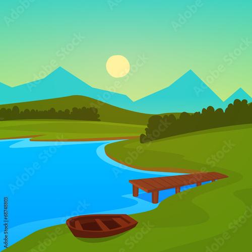 Lake Dock - 68748803