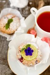 Fresh homemade cranberry muffins