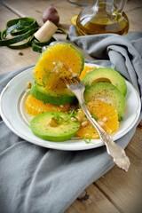 Salad with Citrus Fruits, Avocado.