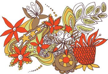 Фрагмент цветочного фона