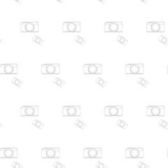 seamless pattern vintage camera, vector eps10