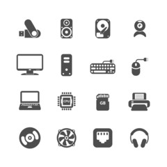 computer pc icon set, vector eps10