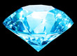 Luxury blue diamond isolated with clipping path