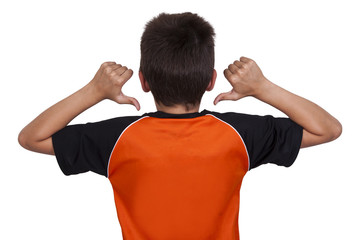 child doing gymnastics sport jersey, active people