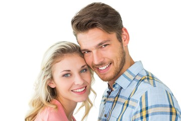 Attractive couple smiling at camera