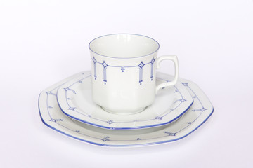 Porzellan Tasse Untertasse Teller