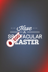 Vector illustration with easter and