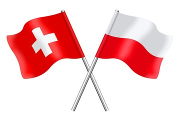 Flags: Switzerland and Poland