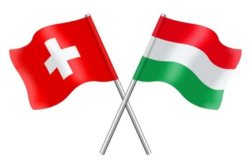 Flags: Switzerland and Hungary