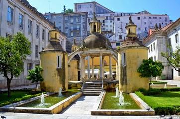 kleiner Park an der Igreja de Santa Cruz in Coimbra