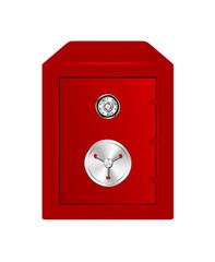Bank Safe in red design