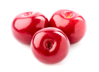 The isolated berries of cherry.