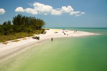 Strandzugang auf Sanibel Island in Florida an der Golfküste