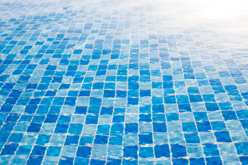 Water surface background in outdoor pool near sea