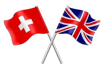 Flags: Switzerland and United Kingdom